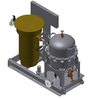 Oil separation unit with the heating BSP-01